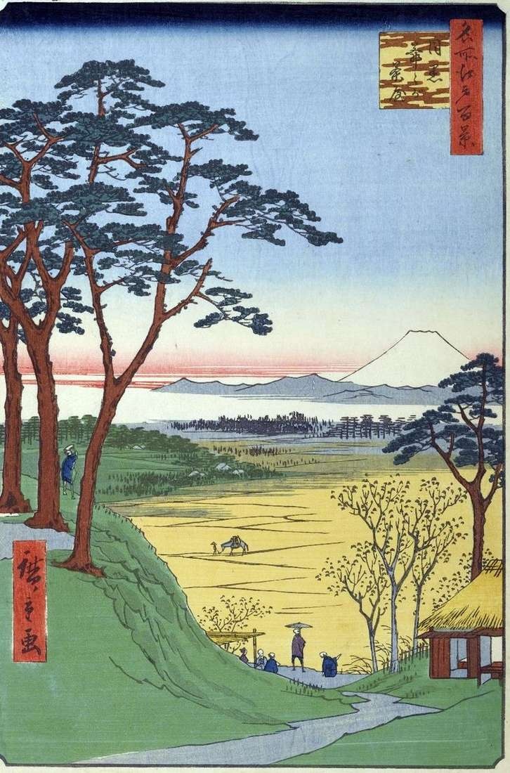 Чайная Дзидзигатяя (Дедушкина лавка) в Мэгуро   Утагава Хиросигэ