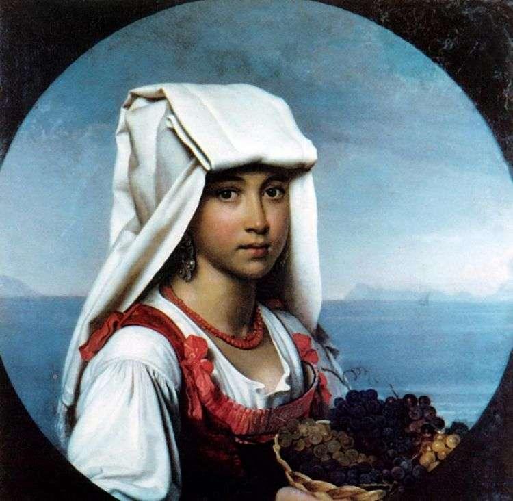 Неаполитанская девочка с плодами   Орест Кипренский