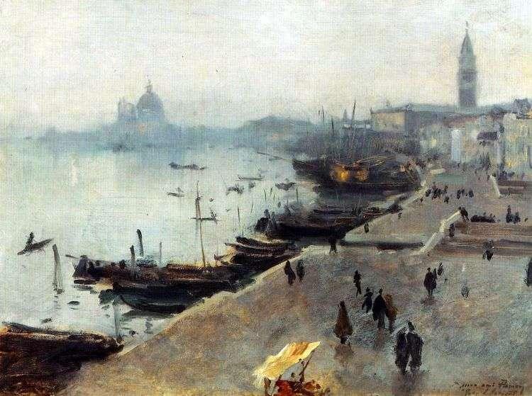 Вид Венеции в пасмурный день   Джон Сарджент