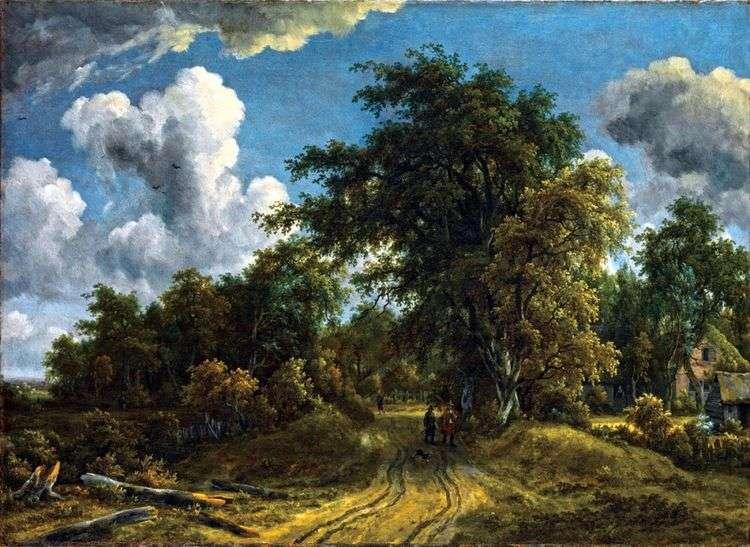 Дорога в лесу   Мейндерт Хоббема