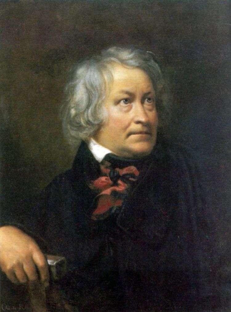 Портрет cкульптора Торвальдсена   Орест Кипренский