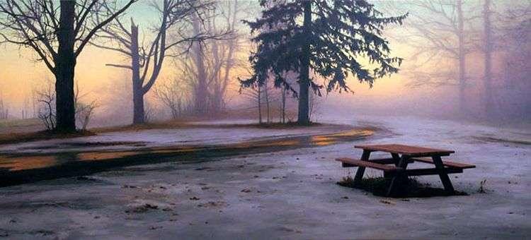 Стол для пикника зимой   Скотт Прайор