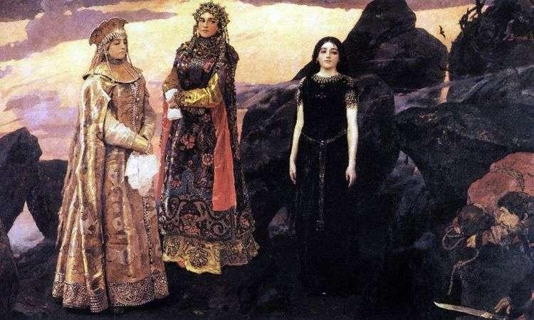 Три царевны подземного царства   Виктор Васнецов