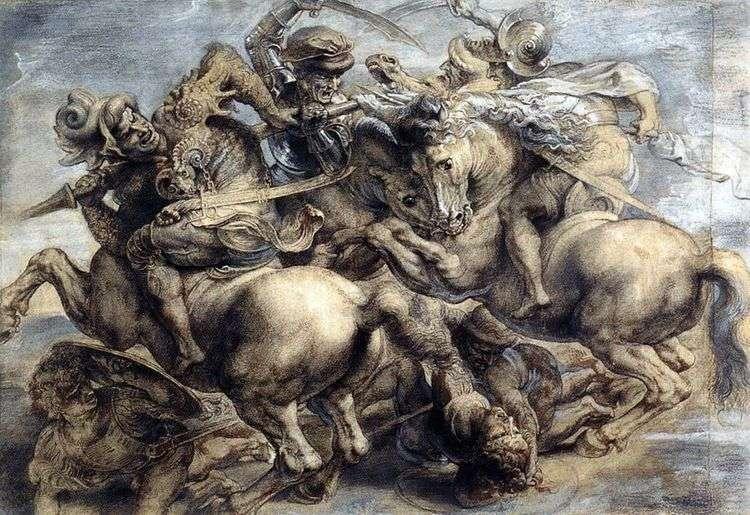 Битва при Ангиари   Леонардо да Винчи