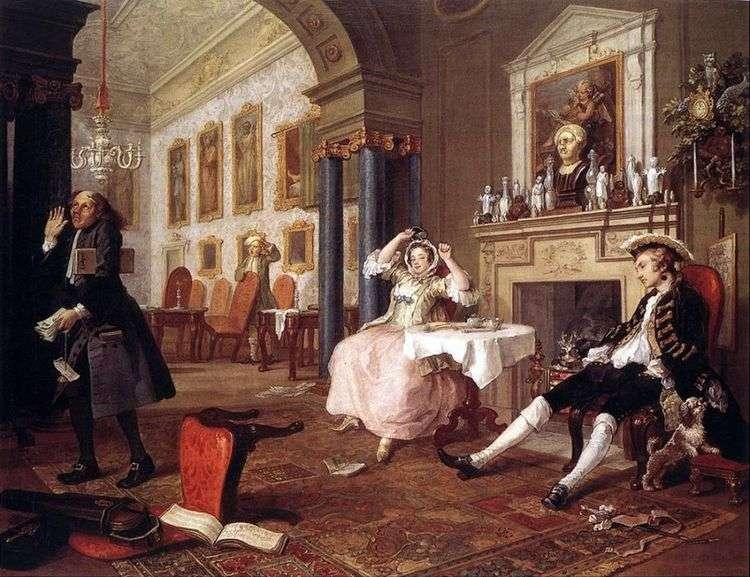 Вскоре после свадьбы   Уильям Хогарт