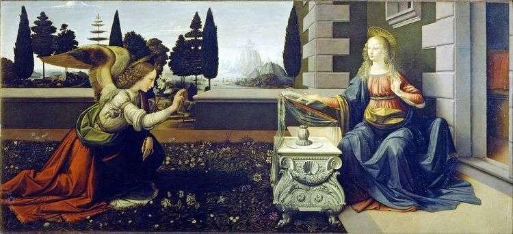 Благовещение   Леонардо Да Винчи