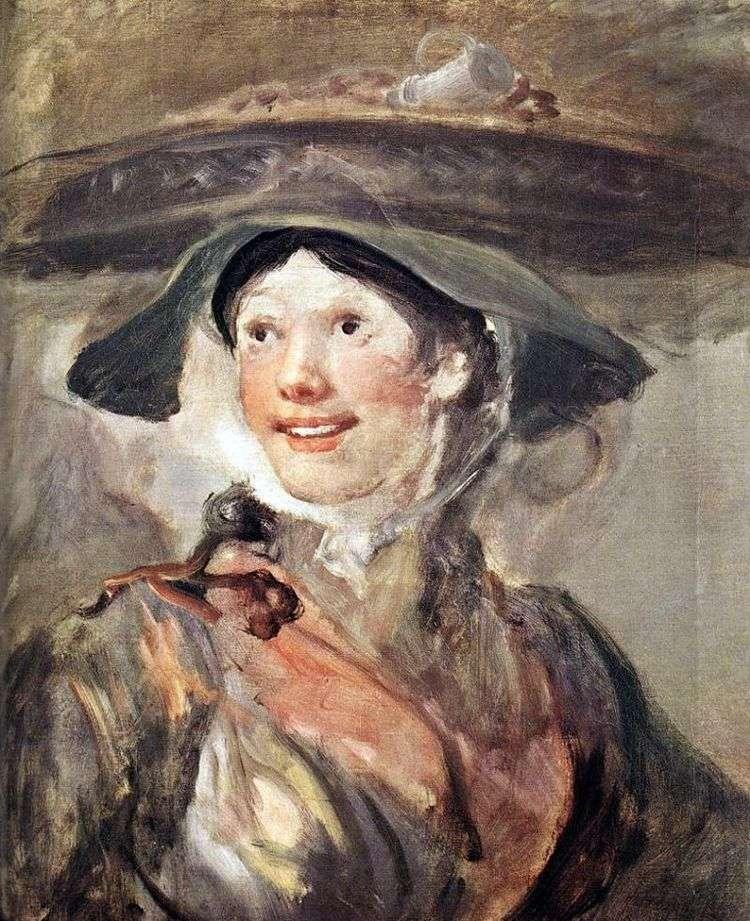 Девушка с креветками   Уильям Хогарт