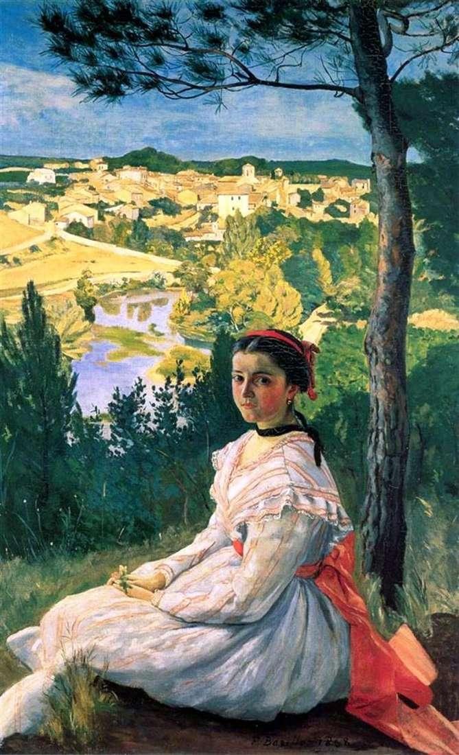 Вид на деревню Кастельнуа ле Лез   Фредерик Базиль