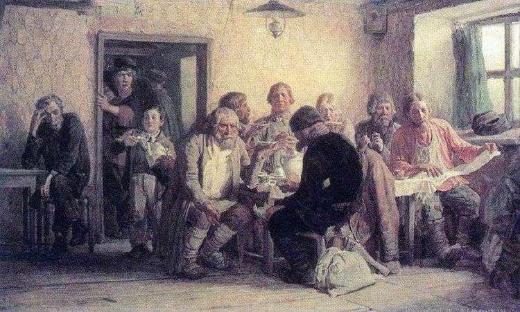 Чаепитие в трактире (харчевне)   Виктор Васнецов