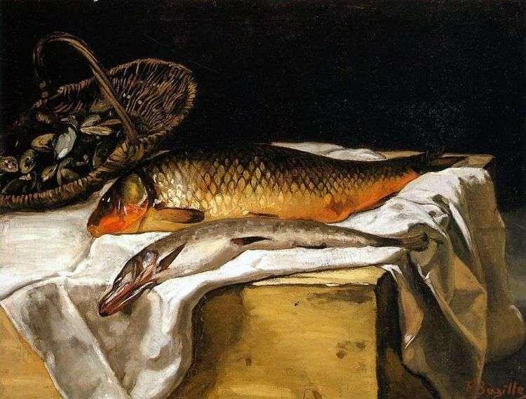 Натюрморт с рыбой   Фредерик Базиль