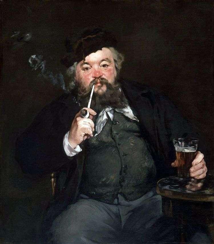 За кружкой пива   Эдуард Мане