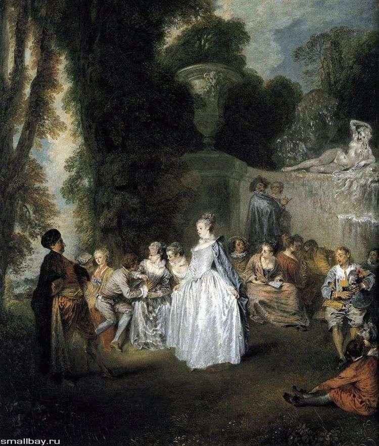Венецианский праздник   Жан Антуан Ватто