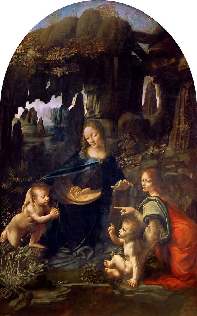 Дева Мария в гроте   Леонардо да Винчи