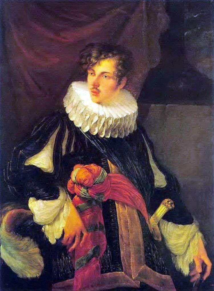 Портрет В. А. Перовского в испанском костюме XVII века   Орест Кипренский