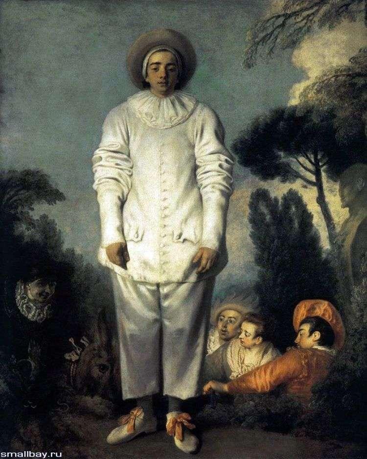 Жиль в костюме Пьеро   Жан Антуан Ватто