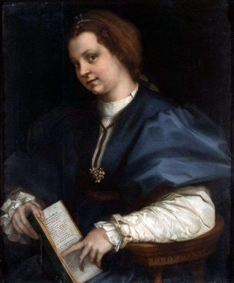 Девушка с томиком Петрарки   Андреа дель Сарто