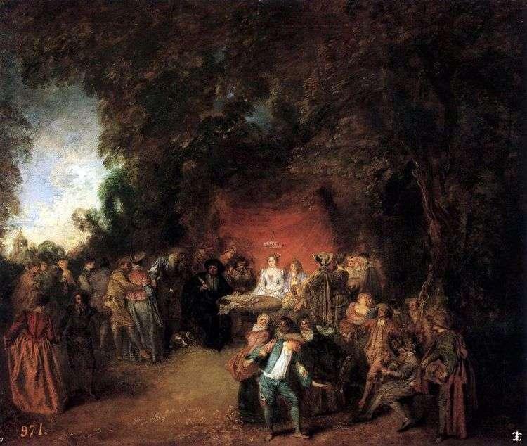 Заключение брачного договора   Жан Антуан Ватто