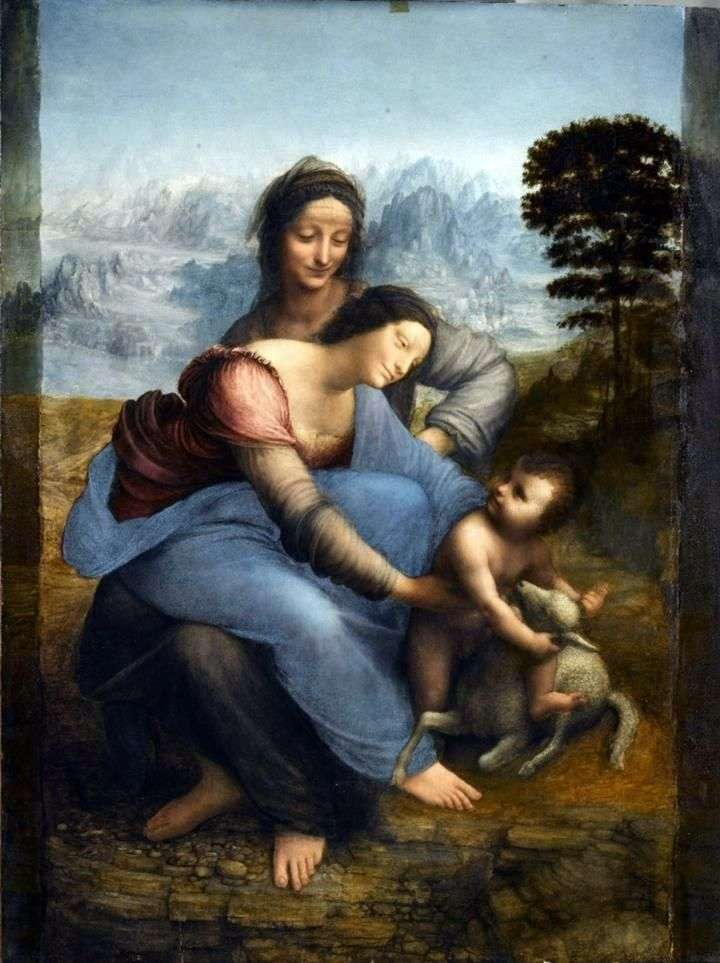 Мадонна с Младенцем и святой Анной   Леонардо да Винчи