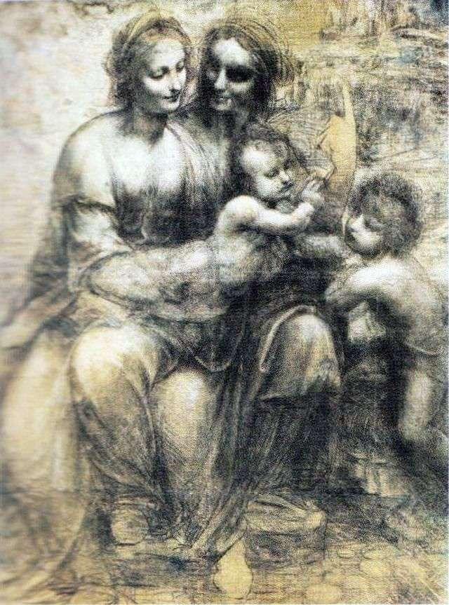 Мадонна с младенцем, Анной и Иоанном   Леонардо да Винчи