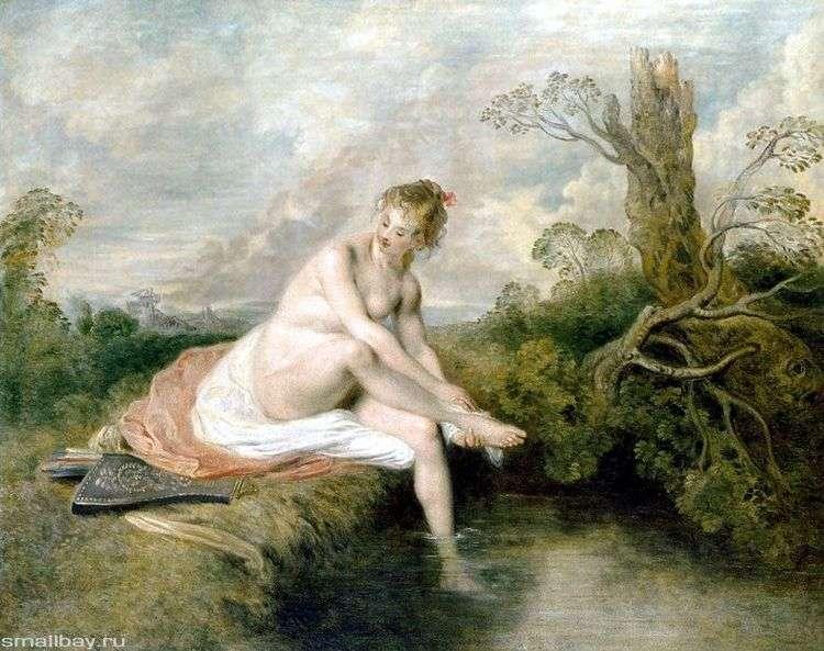 Диана у ручья   Жан Антуан Ватто