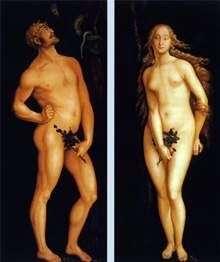 Адам и Ева   Ганс Бальдунг