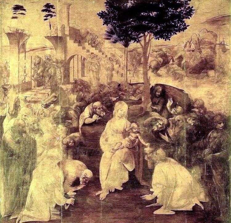 Поклонение волхвов   Леонардо да Винчи