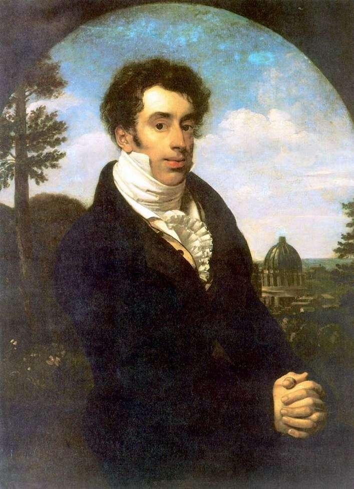 Портрет князя А. М. Глицына   Орест Кипренский