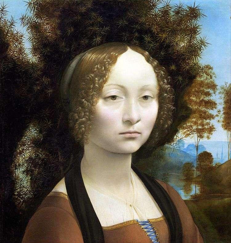 Портрет Жинервы де Бенси   Леонардо да Винчи