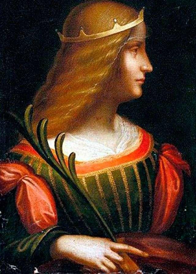 Портрет Изабеллы де Эсте   Леонардо да Винчи