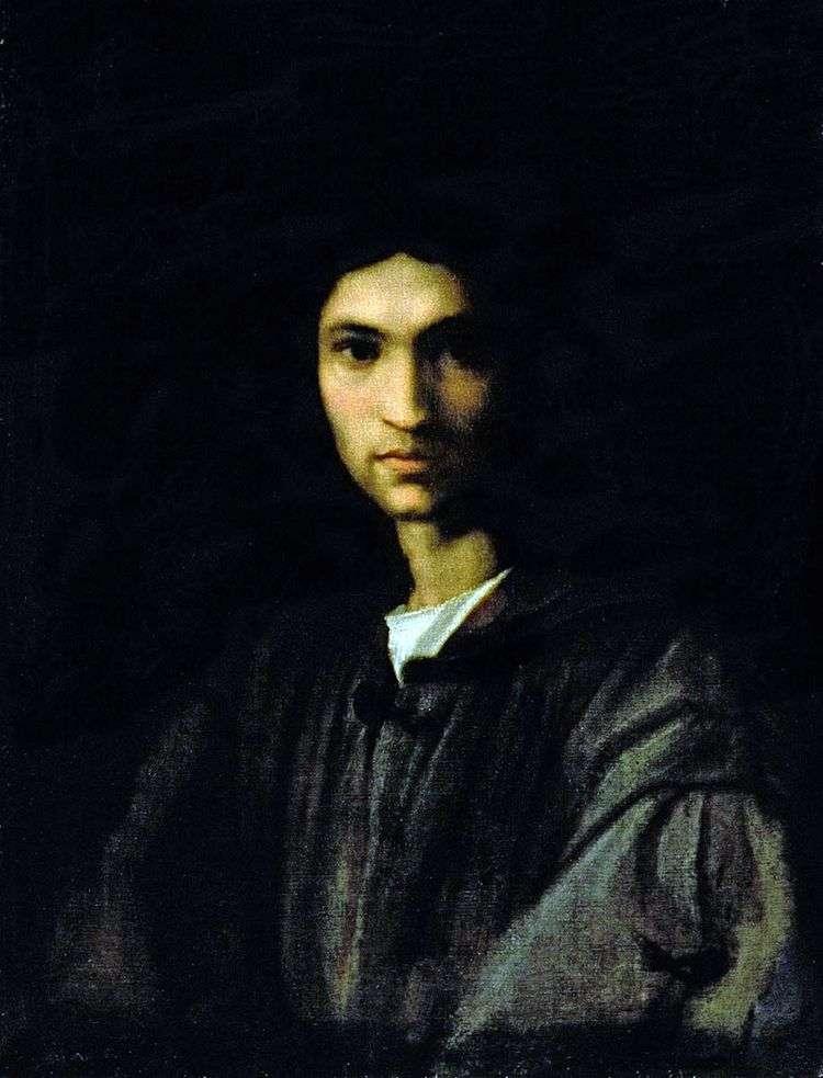 Портрет молодого человека   Андреа дель Сарто