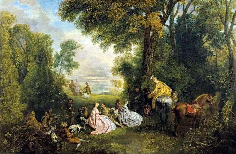 Отдых на охоте   Жан Антуан Ватто