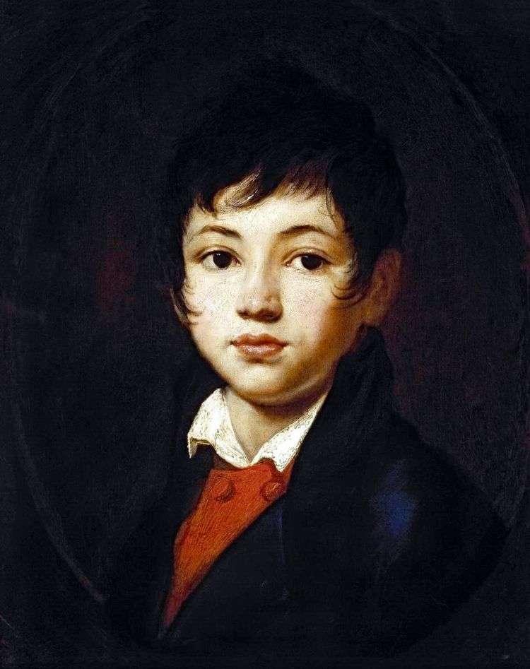 Портрет мальчика Челищева   Орест Кипренский