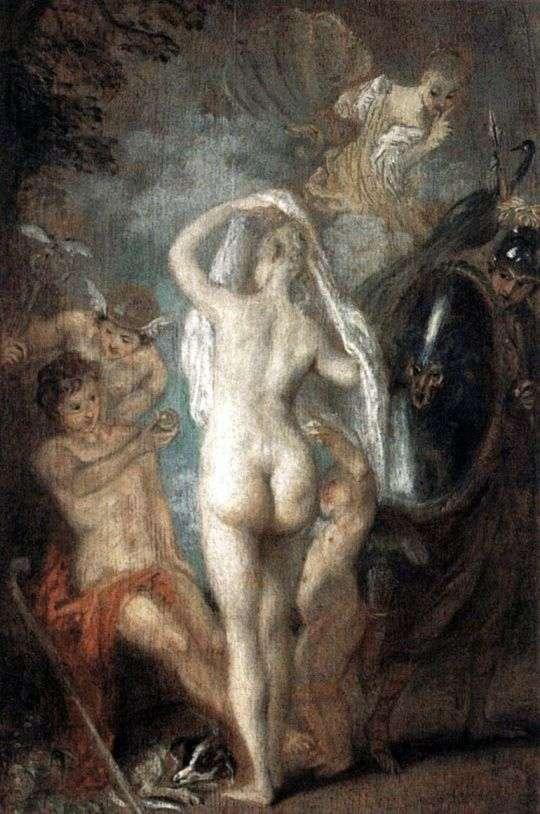 Парис выбирает Афродиту   Жан Антуан Ватто