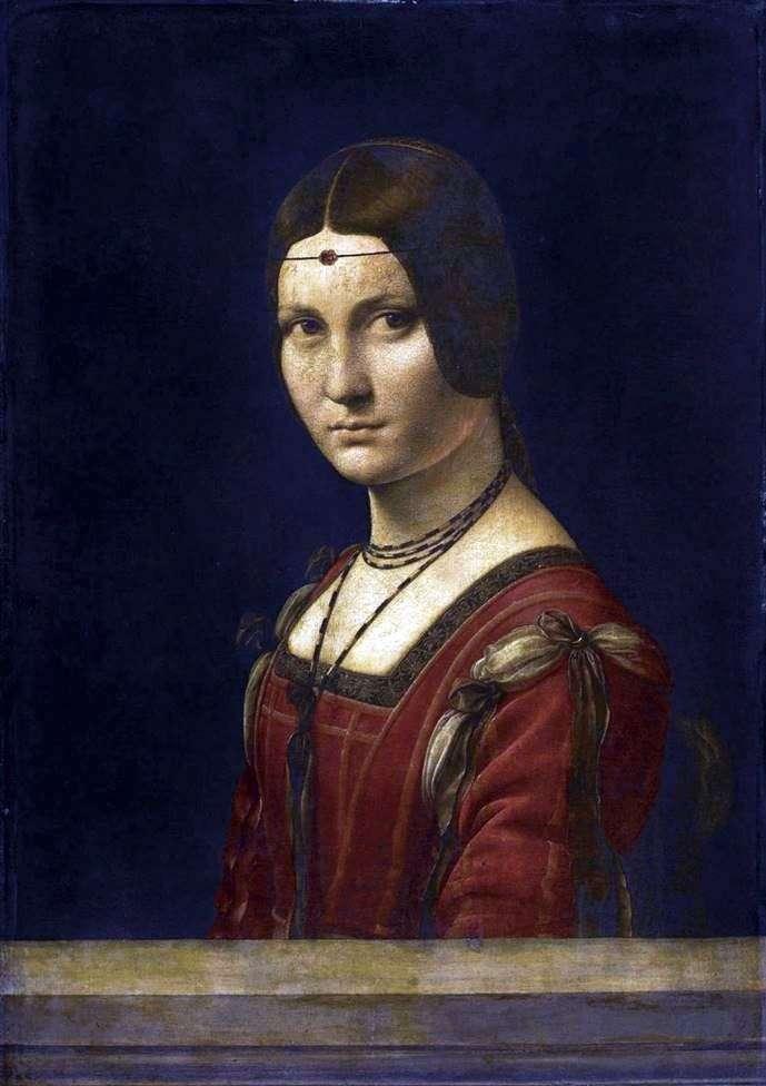Прекрасная Ферроньера   Леонардо Да Винчи