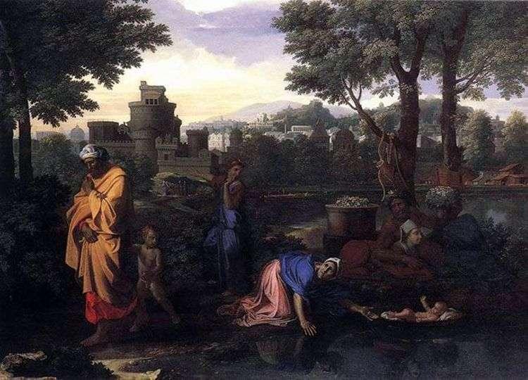 Оставление моисея в Ниле   Николя Пуссен
