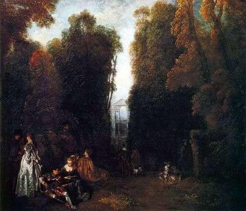 Перспектива Романтическое окружение   Жан Антуан Ватто
