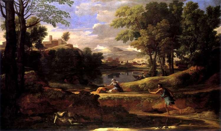 Пейзаж с человеком, умершим от укуса змеи   Никола Пуссен
