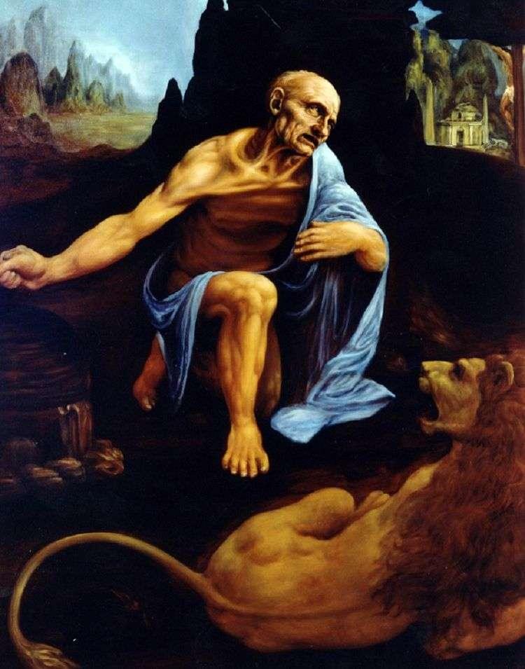 Святой Иероним   Леонардо Да Винчи