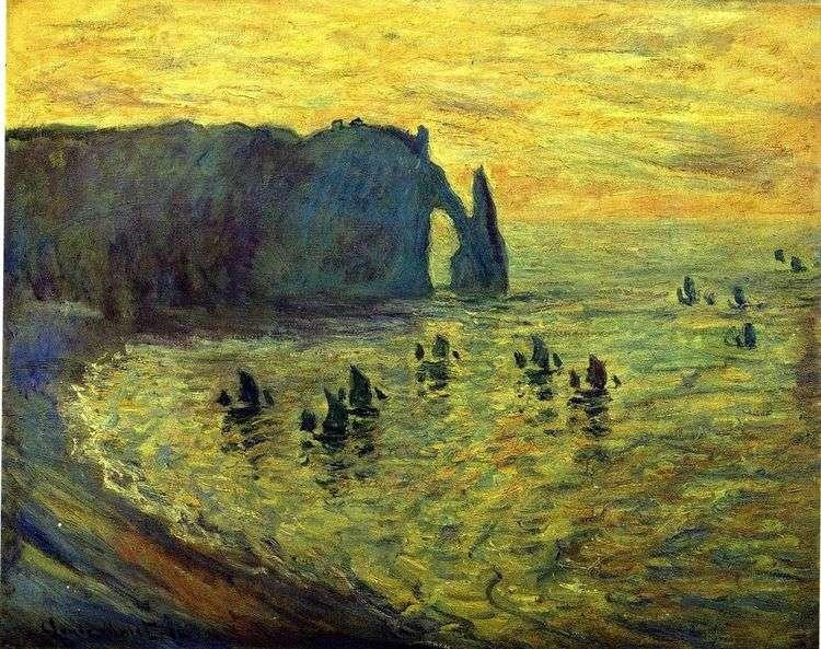 Скалы в Этрета   Клод Моне