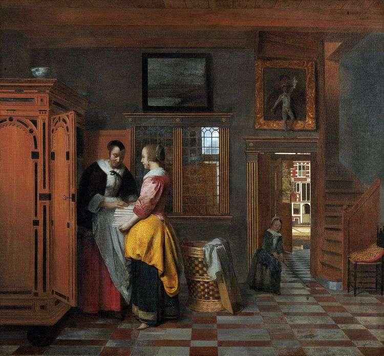 У бельевого шкафа   Питер де Хох