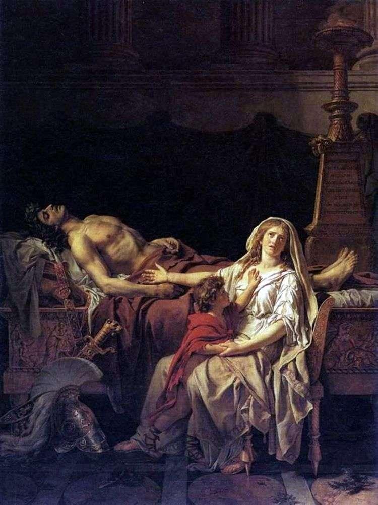 Андромаха у тела Гектора   Жак Луи Давид