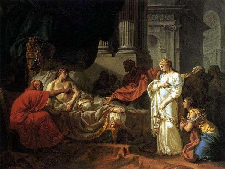 Антиох и Стратоника   Жак Луи Давид