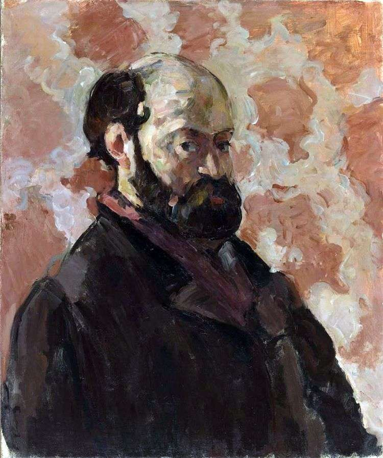 Автопортрет на розовом фоне   Поль Сезанн