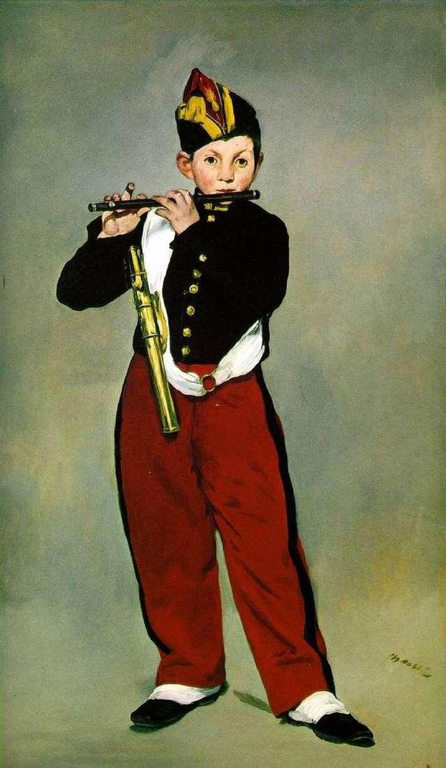 Флейтист   Эдуард Мане
