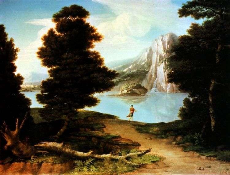 Пейзаж с озером   Олстон Вашингтон