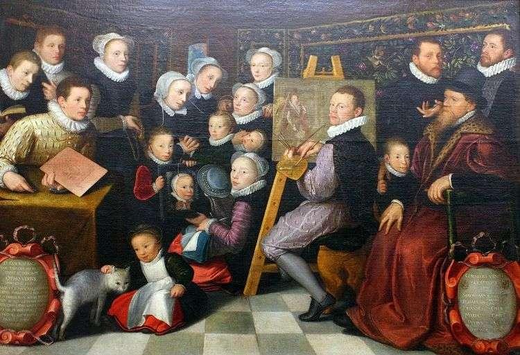 Автопортрет с семьей   Отто ван Веен