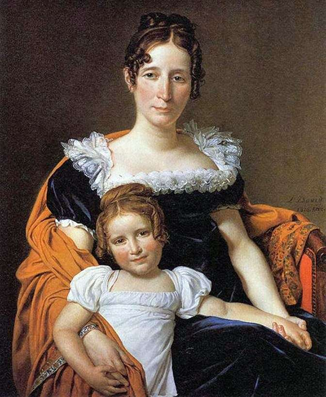 Контесса Вилейн XIIII с дочерью   Жак Луи Давид