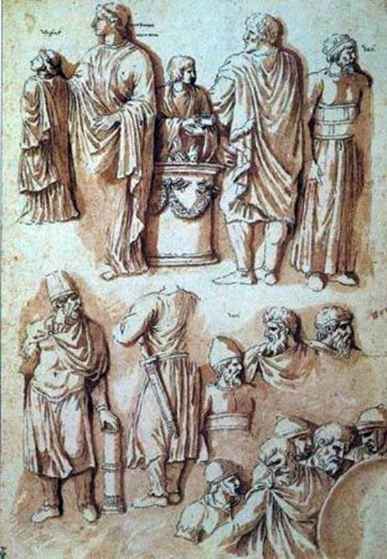 Фигуры с колонны Траяна   Никола Пуссен
