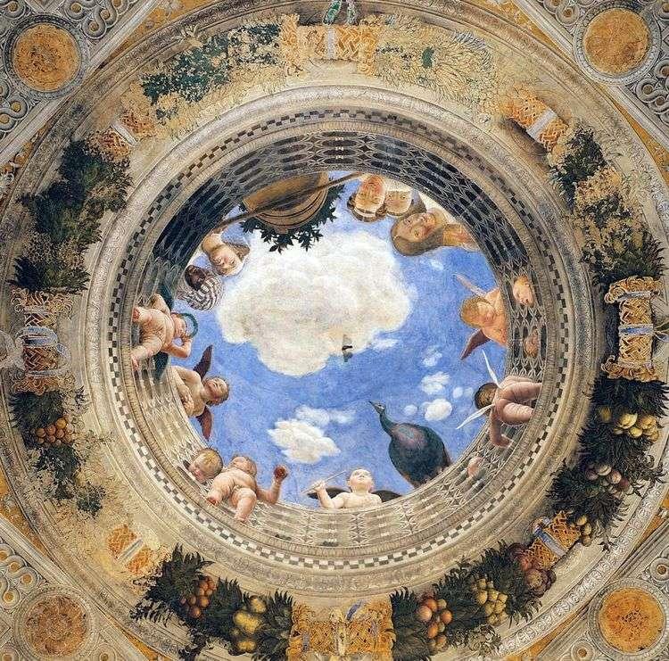 Купольная фреска Камеры дельи Спози   Андреа Мантенья