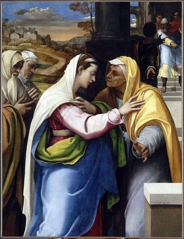 Встреча Марии и Елизаветы   Себастьяно дель Пьомбо